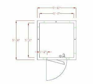 American Panel 6x6c o 6 X 6 Outdoor Walk in Cooler Without Floor Remote