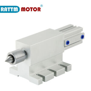 Pneumatic Tailstock Movable Top Thimble Indexing Head For Cnc Rotary A 4th Axis