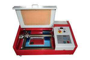 Used 40w Co2 12x8 Inches Laser Engraver Cutter With Rotary Wheels Lcd Screen
