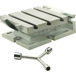 Grizzly T10221 7 X 7 Horizontal Vertical T Slot Tilting Table