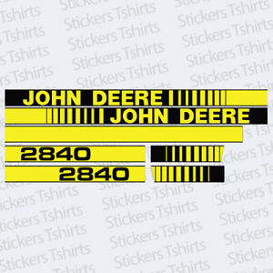 John Deere Tractor 2840 Hood Decals Stickers Set