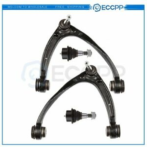2 Front Upper Control Arm 2 Lower Ball Joint Kit For Gmc Yukon Sierra 1500
