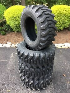 4 New 12 16 5 Skid Steer Tires 12 Ply Camso Sks332 for Bobcat More 12x16 5