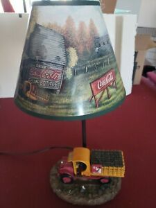 Coca Cola Lamp With Delivery Truck. Very Rare