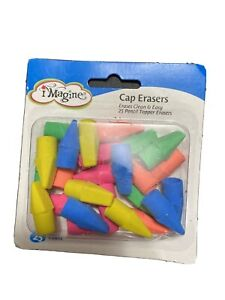 Multi Color Cap Erasers 25 Count In One Pack