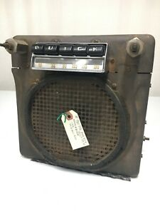 Old 1948 Buick Am Radio 980798 6 Volt Tube With Presets Classic Usa Original