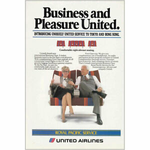 1983 United Airlines: Royal Pacific Service Vintage Print Ad $6.50