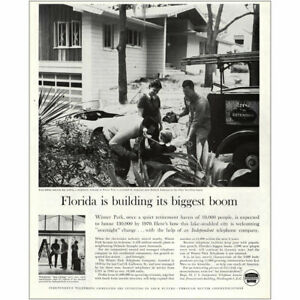 1960 US Independent Telephone: Winter Park Florida Boom Vintage Print Ad