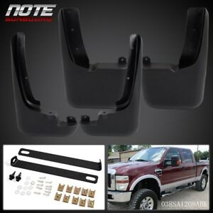 For Ford F250 F350 1999 2010 With Fender Flares Mud Flaps Splash Guards Molded