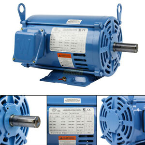 3 Hp 3 Phase Electric Motor 1800 Rpm 182t Frame Odp Open Drip Proof 230 460v