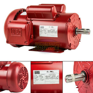 2 Hp Electric Motor 145t Frame 1745 Rpm Single Phase Farm Duty Tefc 115 230 Volt