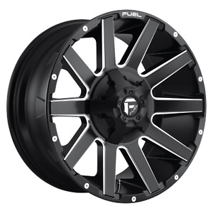 Fuel 1pc Contra Matte Black Milled 22x10 Ford F250 Rims 8x170 18 Offset Each