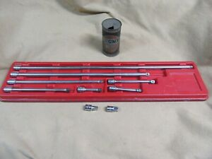 Vtg Snapon 3 8dr Extensions Adaptr 9pc Fx1 Fx24a Classic Logo Nice So3 30 20
