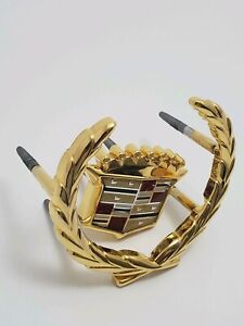 1994 96 Cadillac Oncours Gold Wreath And Crest Front Grille Emblem new Other