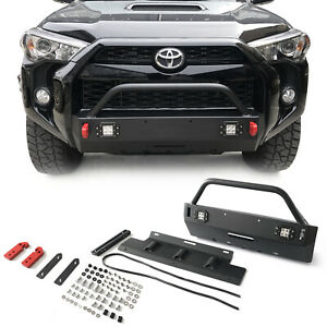 Front Bumper Grille Guard For 2016 2020 Toyota 4runner Trd Pro W led Lights