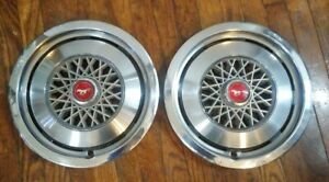 Set Of 2 Vintage Ford Mustang 14 Hub Caps Used