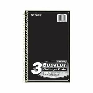 Top Flight Paper 33601 Tf 3 Sub Col 9 5 X 6 108 Count Note Book