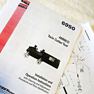 Ammco 6950 Twin Disc Cutter Installation Operation Parts Manual Data Sheet