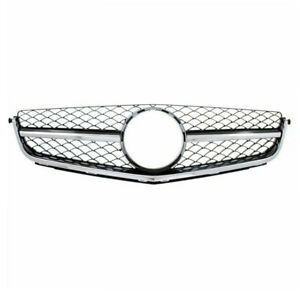 12 15 Mercedes C63 Amg Front Face Bar Grill Grille Assembly W o Distronic Cruise