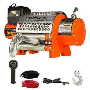 Prowinch 20000 Lbs Electric Waterproof Winch Wire Rope 24v Wireless
