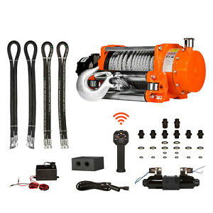 Prowinch Hydraulic Winch W roller 20000 Lbs 12v Wireless Control
