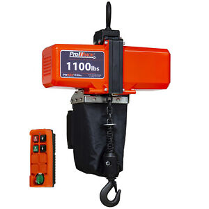 Prowinch 1 2 Ton Mini Electric Chain Hoist 1100 Lb 10 Ft Chain 110v Wireless