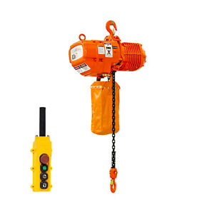 Prowinch 1 2 Ton Electric Chain Hoist Double Speed 1000 Lbs Load Capacity 20ft L