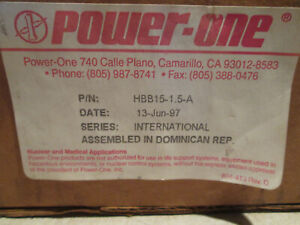 Power one International Series Hbb 15 1 5 a Power Supply new