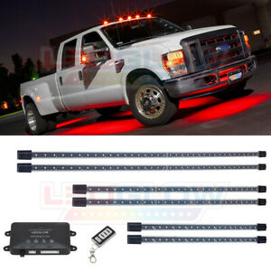 Ledglow 6pc Red Wireless Led Underglow Neon Accent Lighting Kit For Trucks