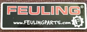 Feuling Parts Decal Sticker Drag Race Auto Engine Parts Hot Rod Ships Free