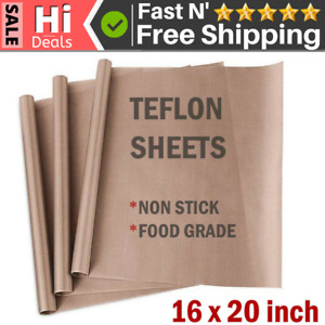 3 Pc Teflon Transfer Sheets For Heat Press Reusable Non Stick Iron Resistant Mat