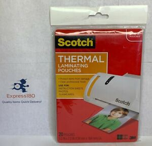 ob Scotch Thermal Laminating 20 Pouches 5 x 7 Pouches Free Us Shipping