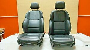 2009 2013 Bmw E92 M3 Coupe M Sport Black Novillo Leather Front Seat Pair Oem