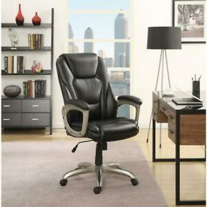 Black Commercial Office Chair With Memory Foam Big And Tall 350 Lbs Capacity