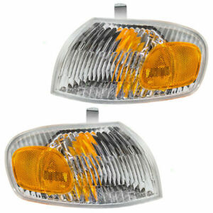 Fit For Chevy Prizm 1998 1999 2000 2001 2002 Corner Park Lamp Right Left Pair