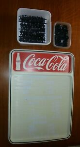Coca-cola resturant menu board, 16-1/4 x 23 inches with lettering
