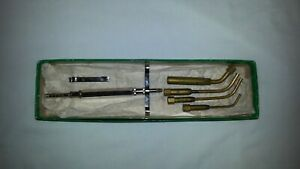 Vintage Torit No 36 Acetylene Torch Set W 4 Tips Circa 1940 s Barely Used Iob