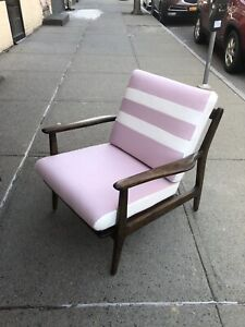 Curated Vintage Walnut Mid Century Danish Lounge Chair