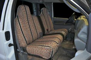 1995 2007 Ford F 150 F 250 F 350 Bench Black Custom Saddleblanket Seat Covers