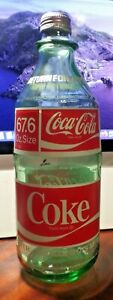 VINTAGE 2 LITER COKE COCA-COLA BOTTLE WITH CAP 1970's ERA  67.6 oz