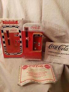 1994 Coca-Cola Brand Collectible Die Cast Vending Machine Musical Bank~Tested