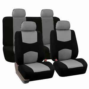 Auto Seat Cover For Car Truck Suv Van Universal Fitmentment Gray