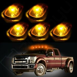 5x 264145bk Amber Cab Marker Light Cover 5730 White Led For 99 02 Dodge Ram 3500