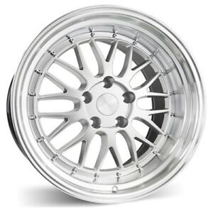 New Set Of 4 Esr Wheels Sr05 19x8 5 5x114 3 30 Hyper Silver Machine Lip