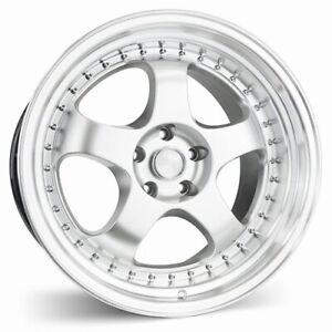 Set 4 Esr Wheels Sr06 19x9 5 5x120 22 Hyper Silver Machine Lip