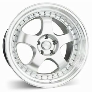 Set 4 Esr Wheels Sr06 19x10 5 5x120 22 Hyper Silver Machine Lip