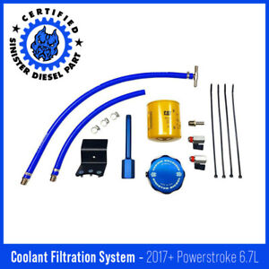 Sinister Diesel Coolant Filtration System W Cat For 2017 Ford Powerstroke 6