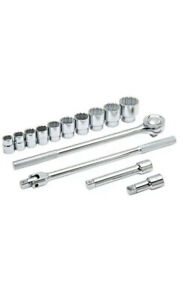 Husky 3 4 In Drive Ratchet And Sae Socket Set 14 piece