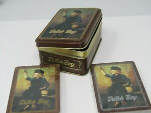 Dutch Boy Paints Playing Cards Two Decks in Tin