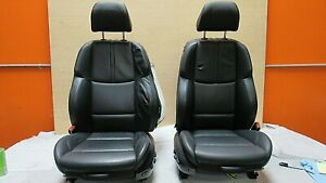 2009 2013 Bmw E92 M3 M Coupe Black Novillo Leather Front Seat Pair Oem A 7691